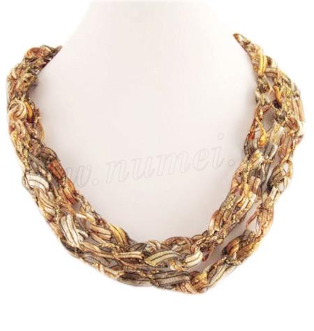 Handmade Ribbon Necklace GO2