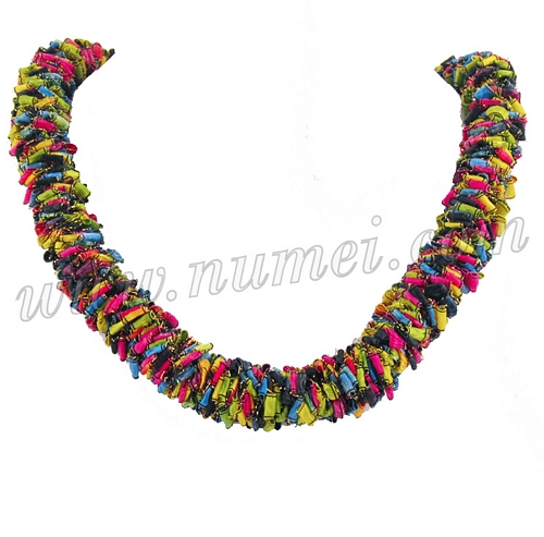 lei california center shell ring hula necklace products bubble img large