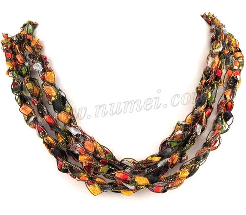 Handmade Ribbon Necklace MG8240