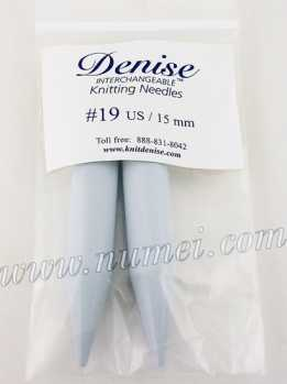 Denise Knitting Needles Needle Tips - US Size 19