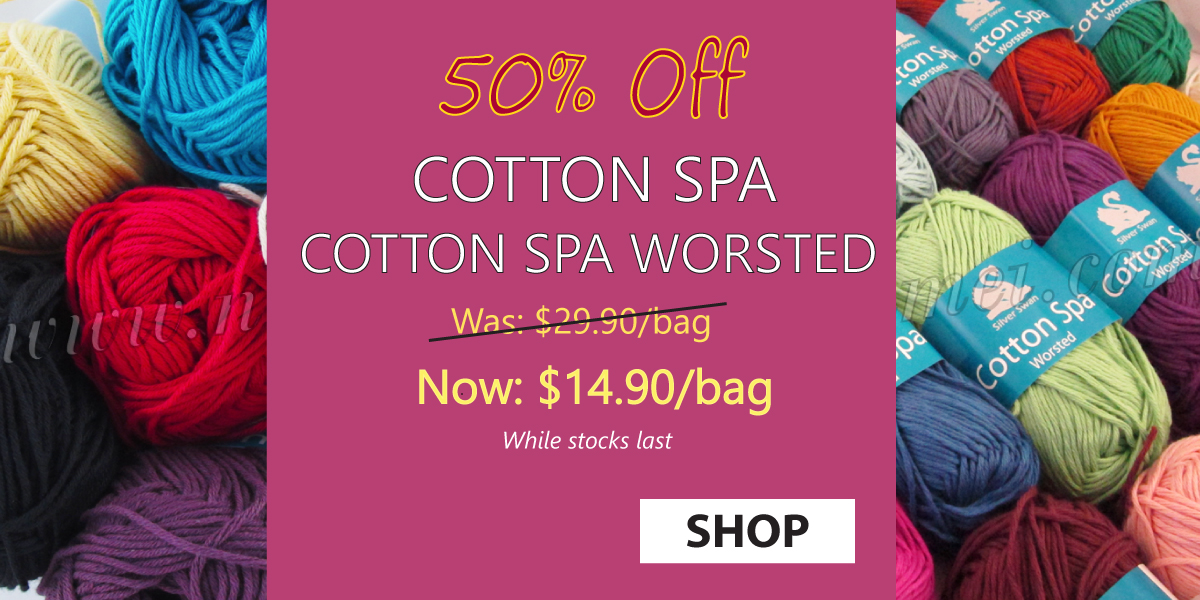 50% Off Cotton Spa Worsted Cotton Bamboo Yarn