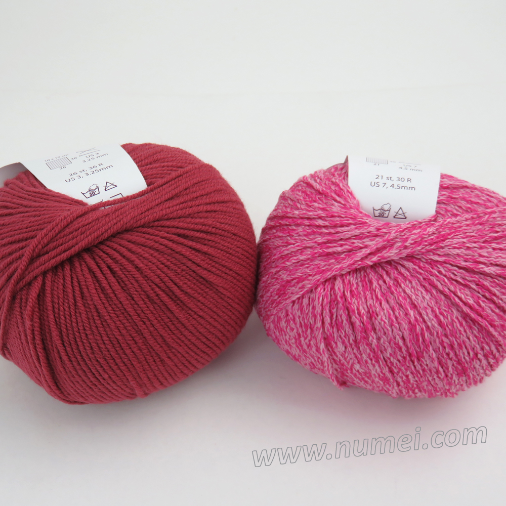 Berlini Palisades 6/Merino Butter 7 Combo Pack - Hot Pink/Earth Red