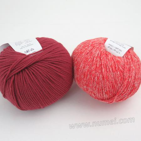 Berlini Palisades 4/Merino Butter 7 Combo Pack - Hot Tomato/Earth Red