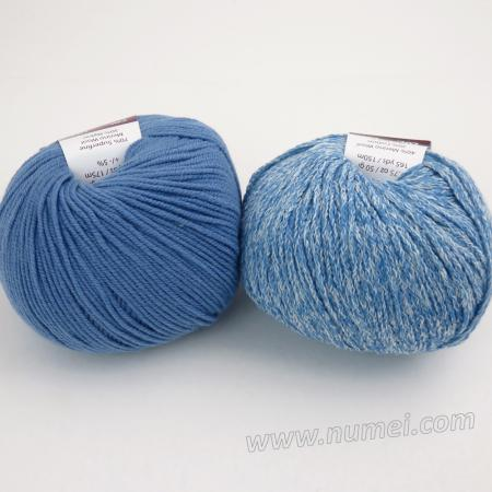 Berlini Palisades 5/Merino Butter 9 Combo Pack - Boy Blue/Lake Blue