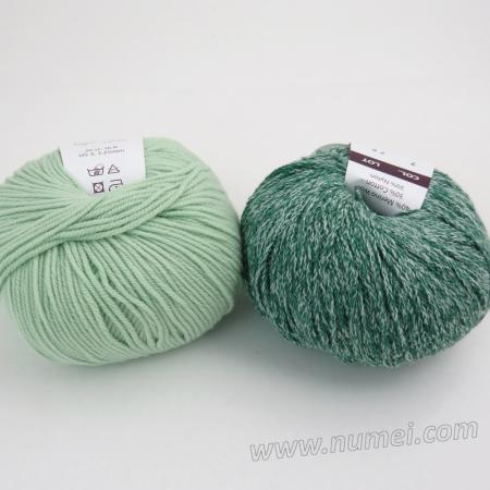 Berlini Palisades 7/Merino Butter 10 Combo Pack - Forest Green/Quiet Green