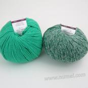 Berlini Palisades 7/Merino Butter 11 Combo Pack - Forest Green/Mint Leaf