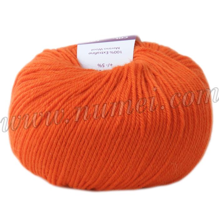 Berlini Merino Velvet Sock 23 Tangerine