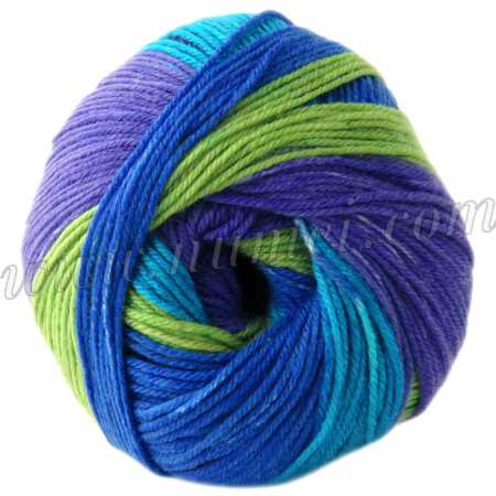 Berlini Merino Velvet Sock 106 Aegean Sea - 50g Ball