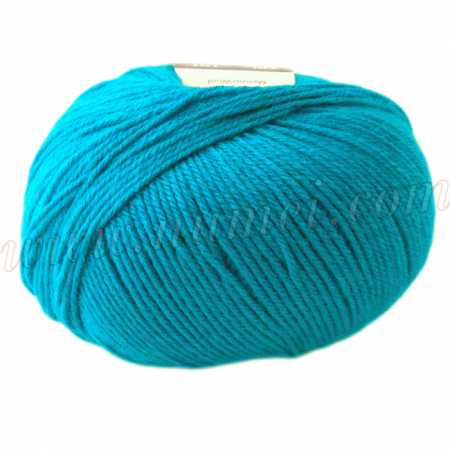 Berlini Merino Velvet Sock 19 Turquoise - 50g Ball