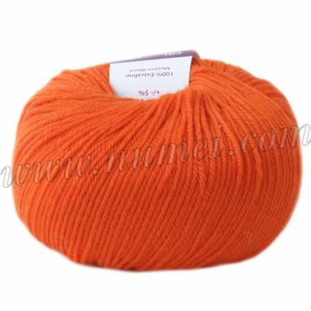 Berlini Merino Velvet Sock 23 Tangerine - 50g Ball