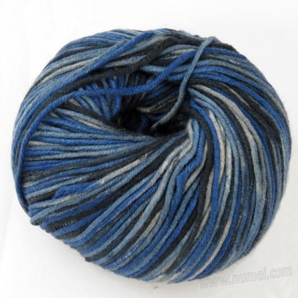 Berlini Merino Velvet Worsted 1107 Navy Blue Camouflage