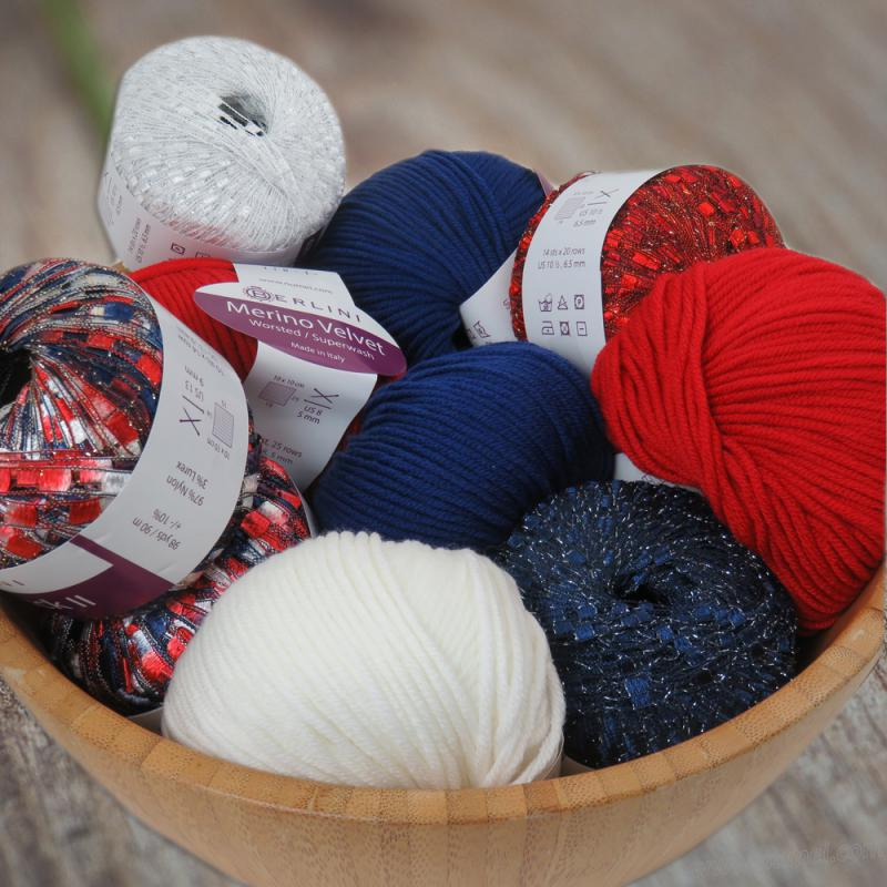 Red White and Blue Yarn
