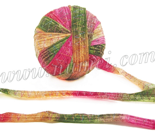 Berlini Tinkerbella Wide Glittery Ribbon Knitting Yarn At