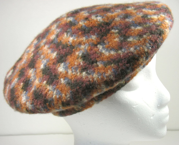 Vintage Antique Hat Tam Crochet Velvet Pattern 1918 | eBay