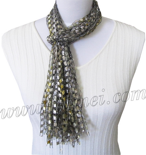 Free Knitting Pattern For Ribbon Scarf : Handmade Ribbon Yarn Scarves at NuMei Yarn numei.com