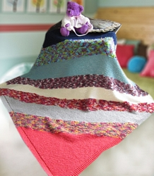 Free Knitting Pattern Diagonal Baby Blanket - Crocheting Patterns