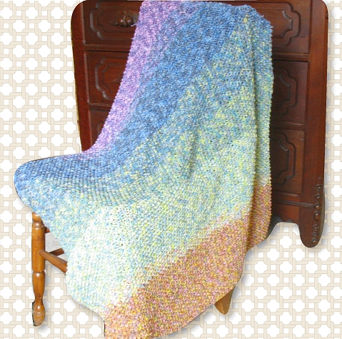 Free Knitting Pattern: Cascading Colors Baby Blanket
