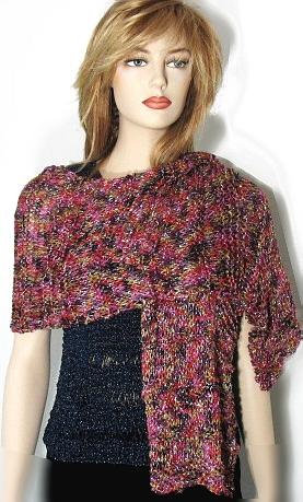 Wide Scarf Knitting Pattern : Free Knitting Pattern: Kayla Wide Scarf / Shawl