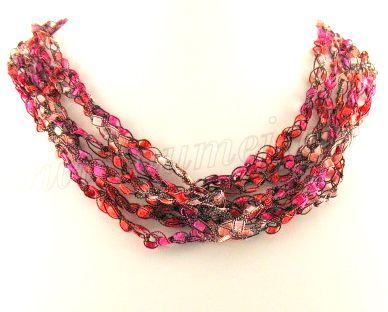 Trellis/Ladder Yarn Crochet Necklace pattern '2 Patterns + Yarn