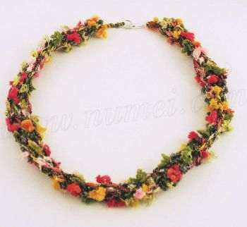 Crochet Pattern Necklace Trellis Yarn Free | Free Patterns