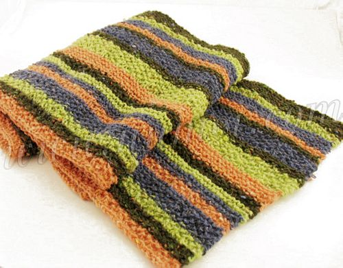 Knit Striped Scarf Pattern : Striped Knit Scarf Pattern Patterns Gallery