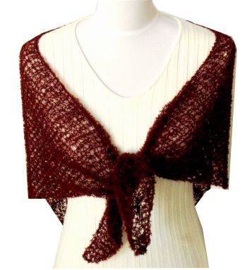 Stretched crochet eternity pattern scarf shawl wrap have