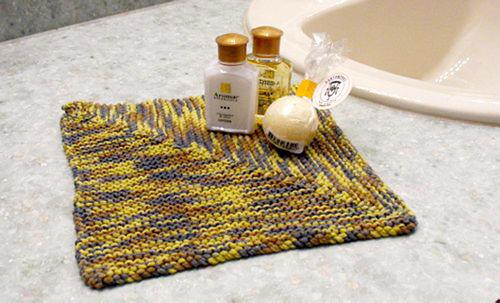 Whimsical Knitting Designs: Flower Power washcloth patterns